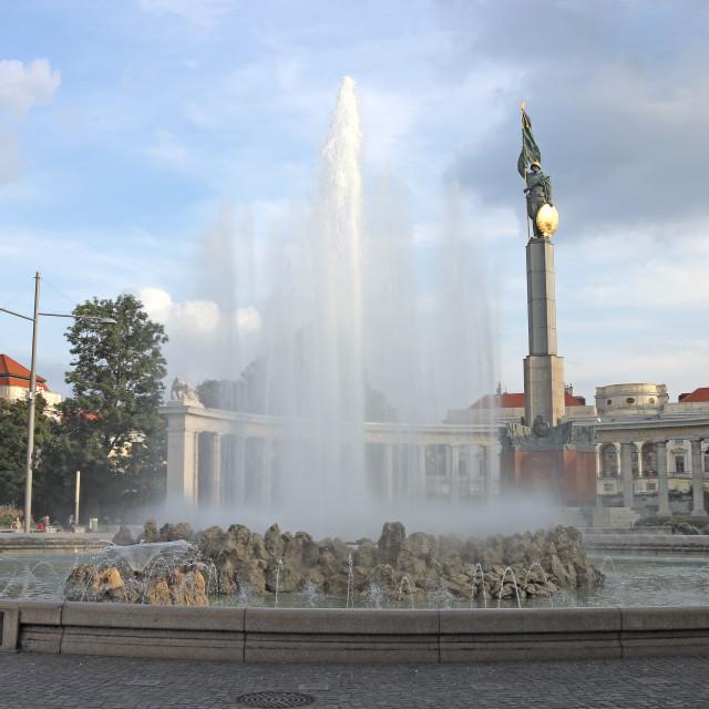 """""""Red Army monument Schwarzbergplatz Vienna Austria"""" stock image"""