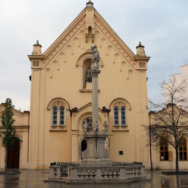 """Saint Stephan Capuchin church Bratislava Slovakia"" stock image"