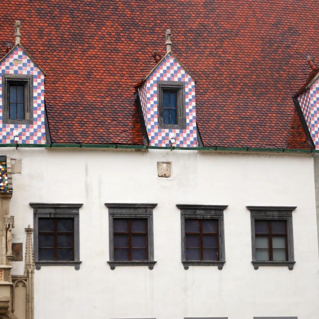 """Wall detail old town hall Bratislava Slovakia"" stock image"