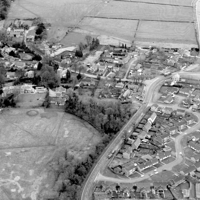 """Alwalton Village (1980)"" stock image"