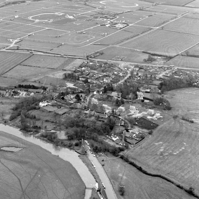 """Alwalton Village and East of England Showground (1980)"" stock image"