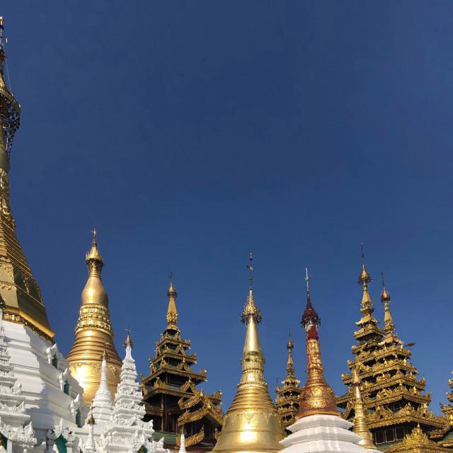 """Pagodas in Myanmar"" stock image"