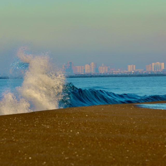 """Waves on sand"" stock image"