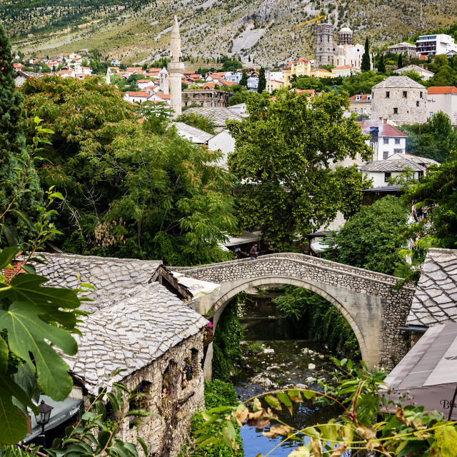 """The small bridge of Mostar"" stock image"