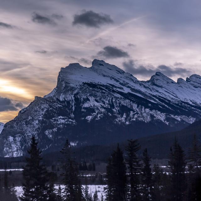 """Rocky Mountain Sunrise"" stock image"