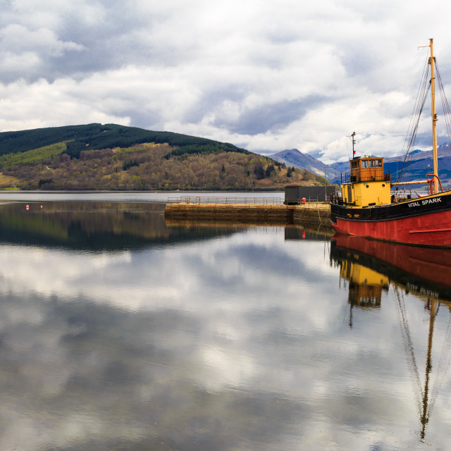 """Inverary and the Vital Spark Scotland"" stock image"
