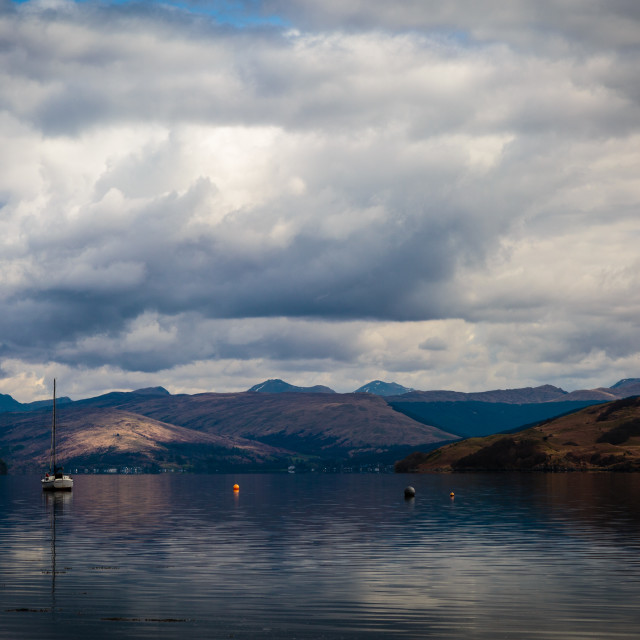 """Across the water in Arrochar Scotland"" stock image"