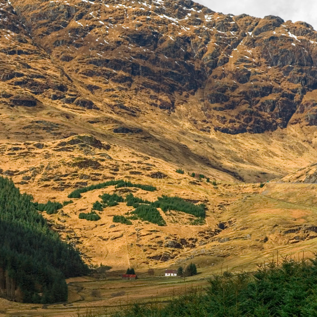 """Rest and Be Thankful Glencoe Cottage, Scotland"" stock image"