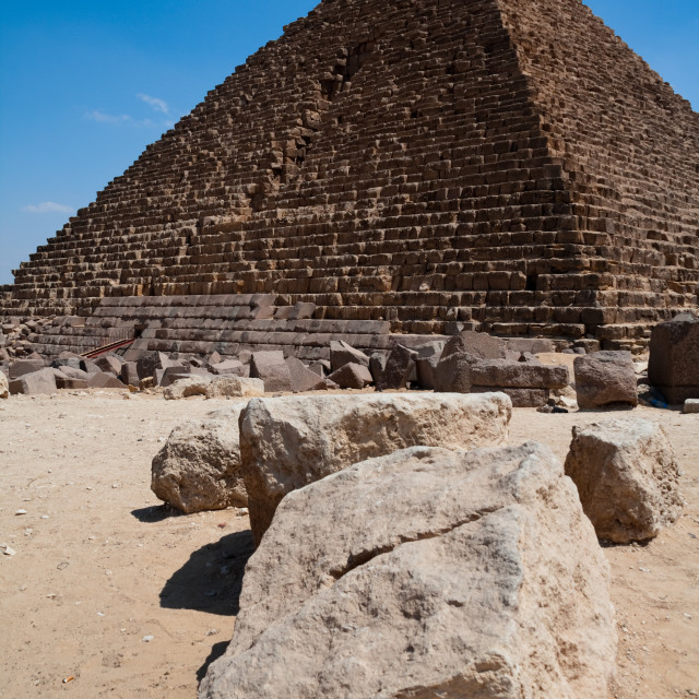 """Great Pyramids of Giza Egypt"" stock image"
