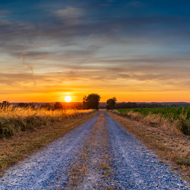 """Sunrise in Lege France Golden Morning"" stock image"