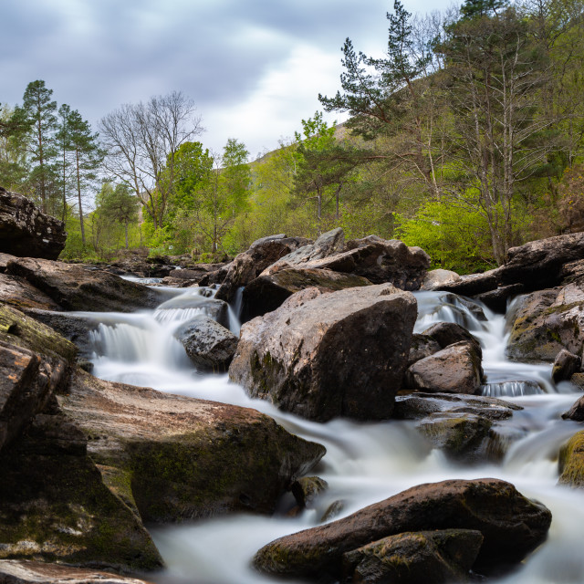 """Waterfalls of Killin Scotland"" stock image"
