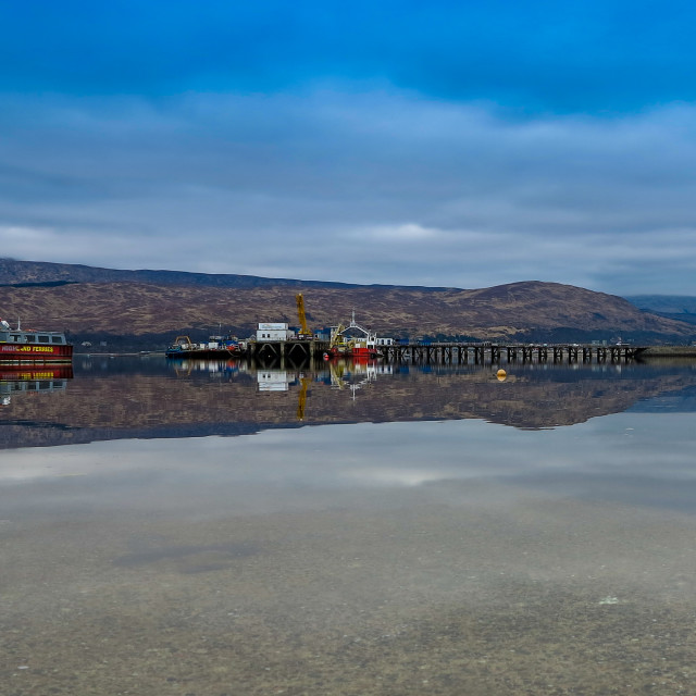 """Fort william Harbour View"" stock image"