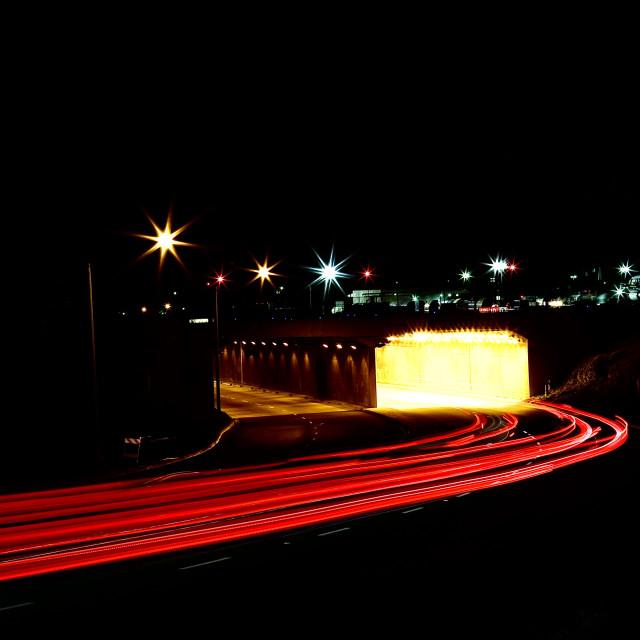 """Car lights"" stock image"