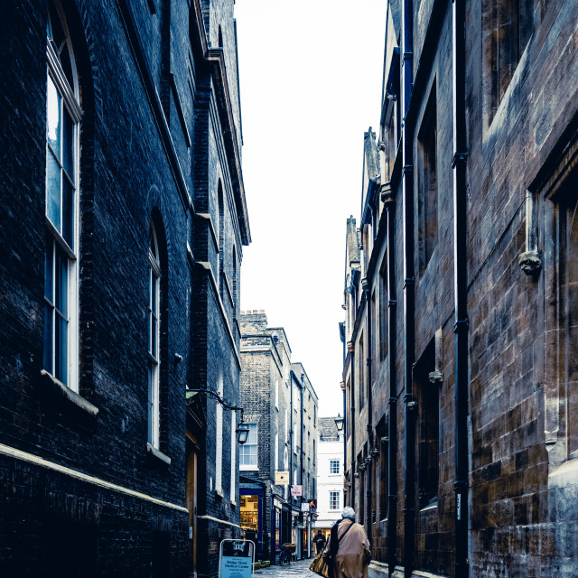 """All Saints Passage, Cambridge UK"" stock image"