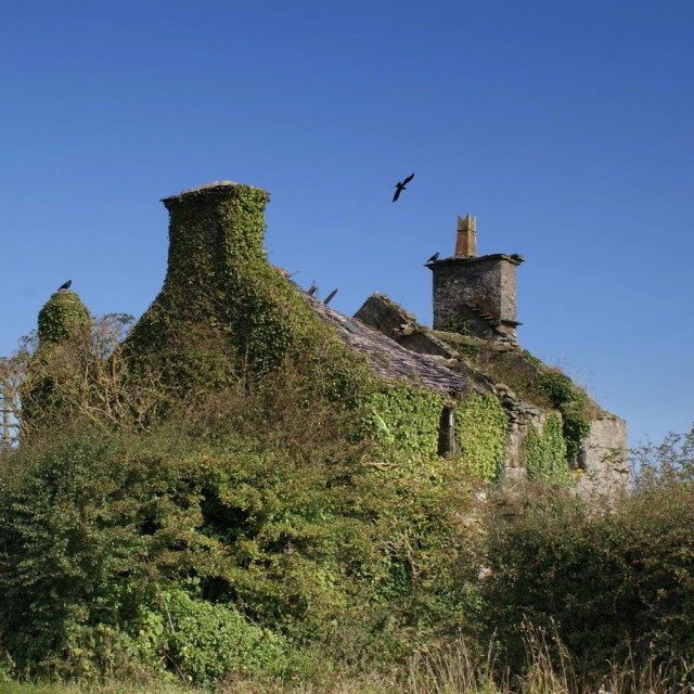 """Derelict house"" stock image"