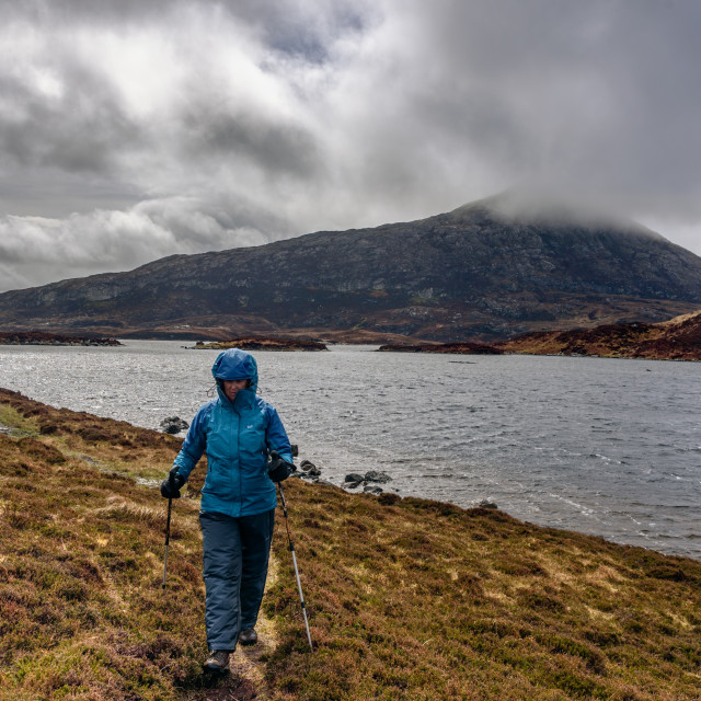 """""""A rainy day on North Uist"""" stock image"""