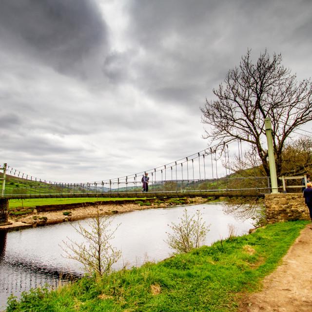 """Reeth Swing Bridge"" stock image"