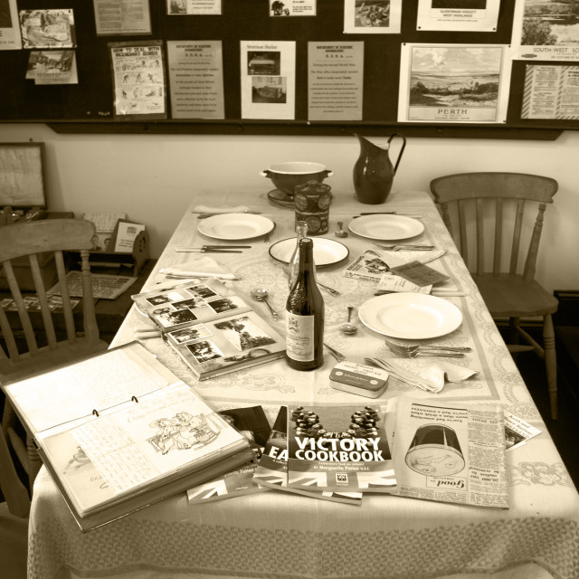 """""""A Wartime Table"""" stock image"""