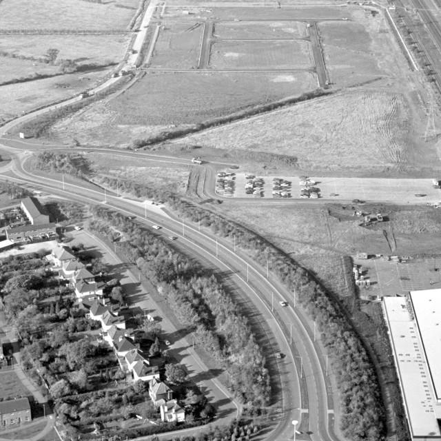 """Bretton Way and Mallard Road (1979)"" stock image"