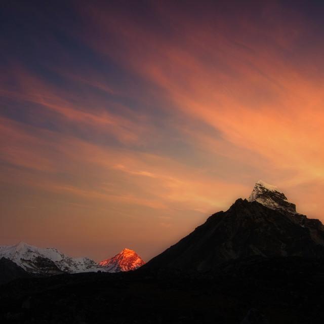 """Everest Rising"" stock image"