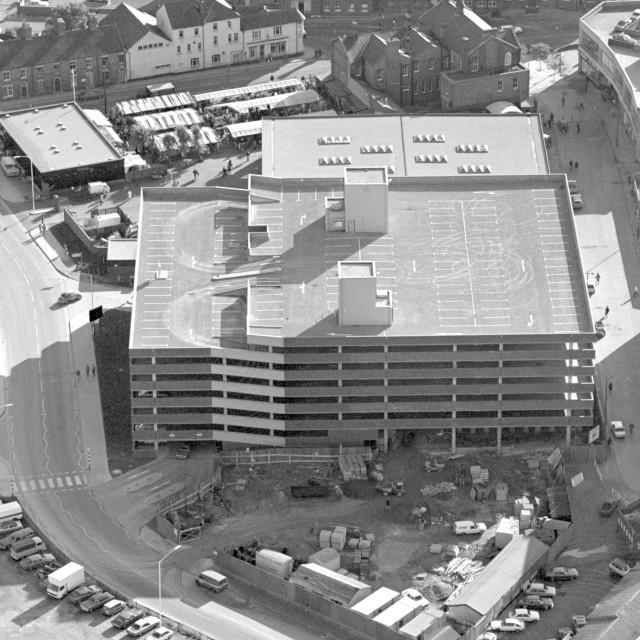 """Market Car Park (1979)"" stock image"