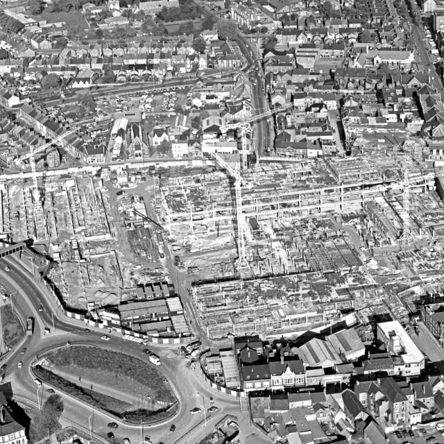 """Peterborough City Centre (1979)"" stock image"