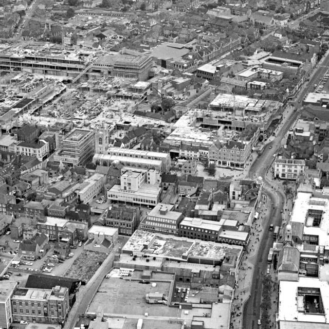 """Bridge Street and City Centre (1980)"" stock image"