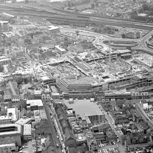 """""""Queensgate and City Centre (1980)"""" stock image"""