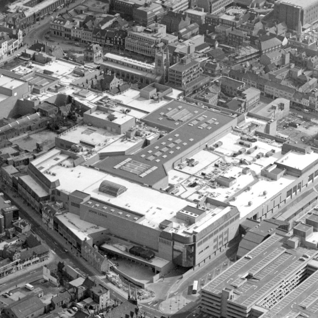 """""""Queensgate Shopping Centre (1982)"""" stock image"""