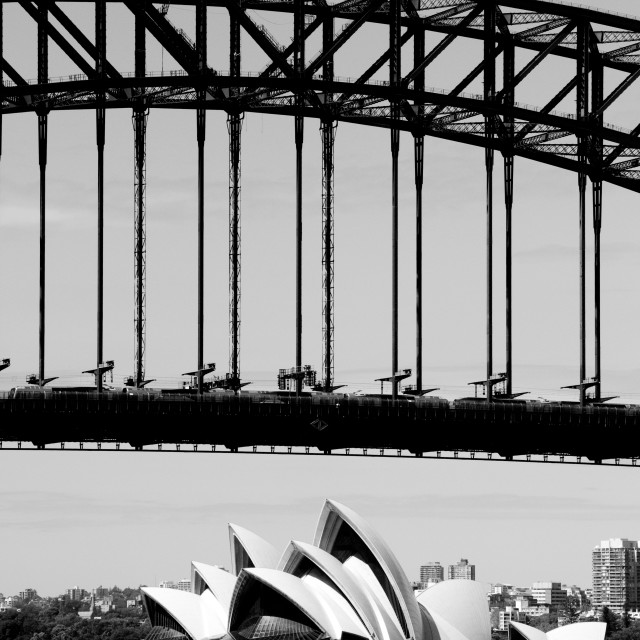 """Bridge and Opera"" stock image"