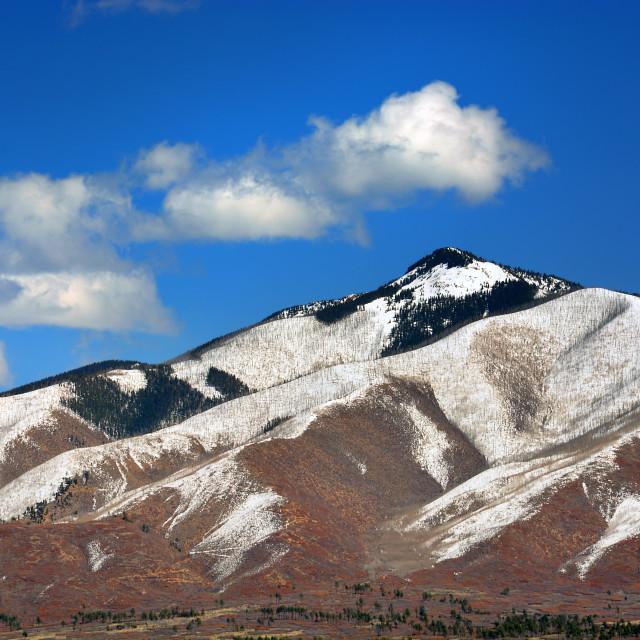 """Mountains in Colorado"" stock image"