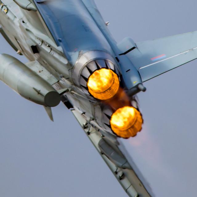 """Eurofighter Typhoon engines afterburner"" stock image"