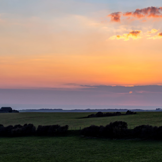 """""""Sunset from Warren Hill 2"""" stock image"""