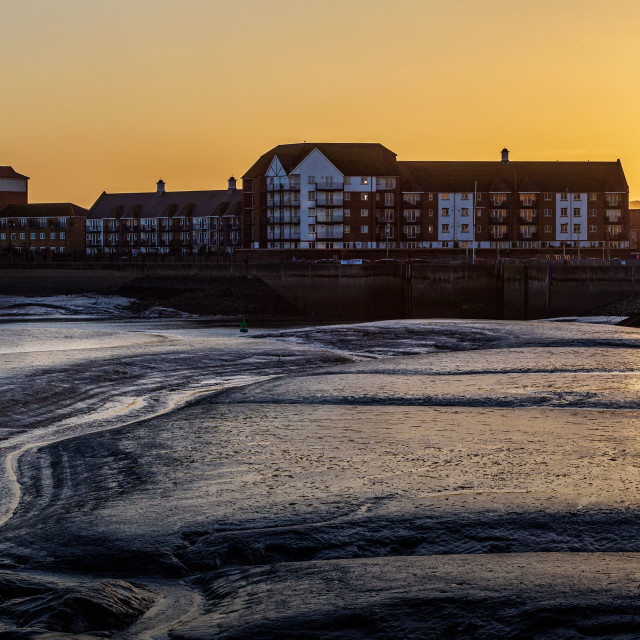 """""""Sovereign Harbour at Sunset"""" stock image"""