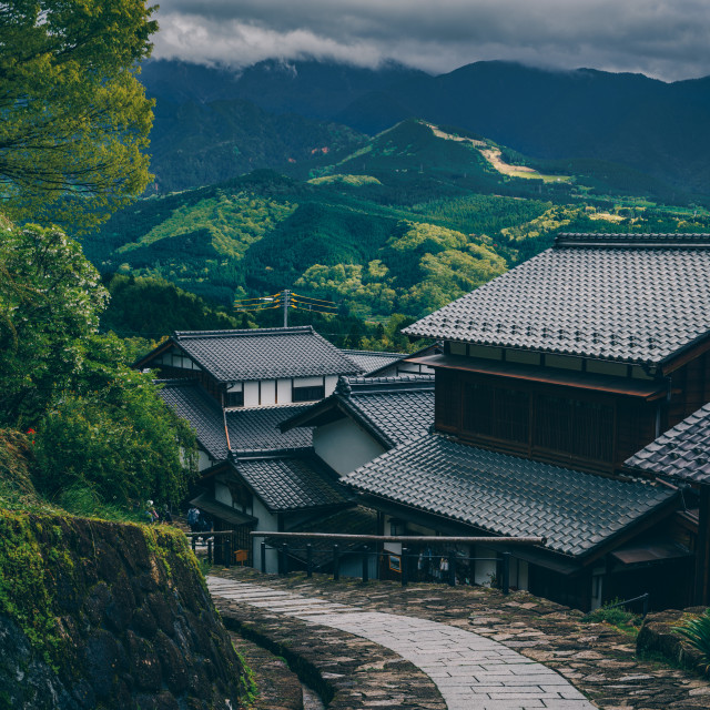 """""""Photographing traditional Japan"""" stock image"""