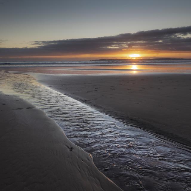 """Aberavon beach sunset"" stock image"