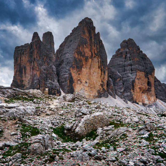 """""""Look to Tre Cime"""" stock image"""