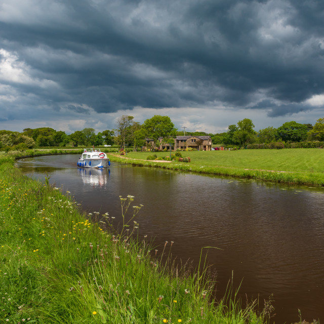 """""""Approaching Storm Lancaster canal"""" stock image"""