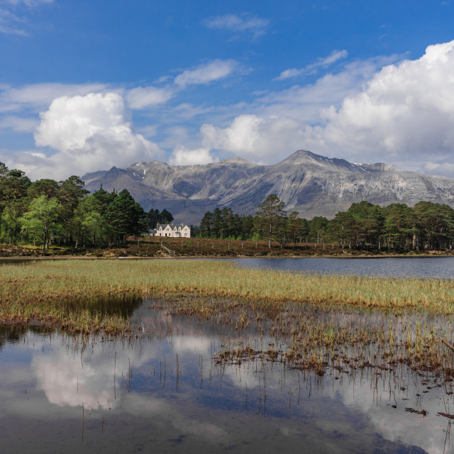"""""""Beinn Eighe and Coulin Lodge"""" stock image"""