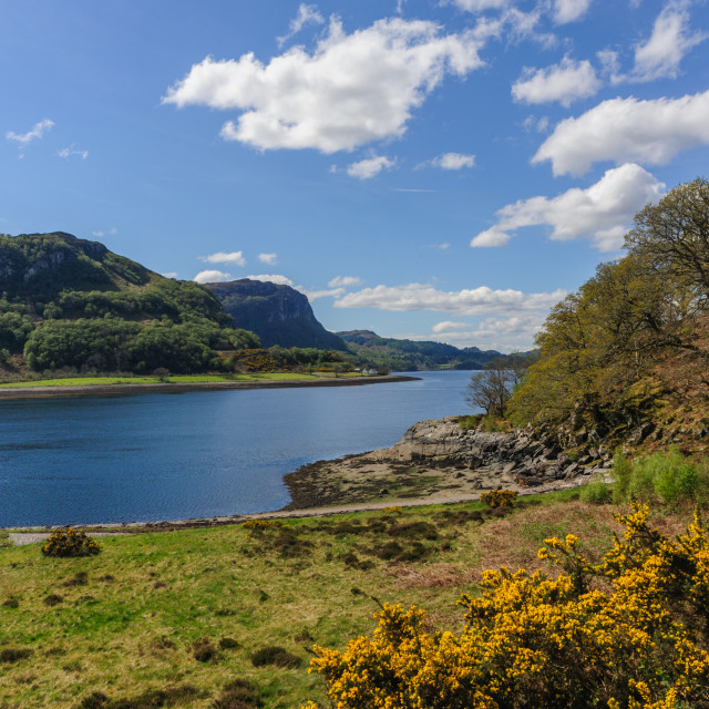 """""""Loch Carron from North Strome"""" stock image"""