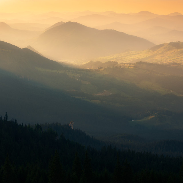 """Mountain light"" stock image"