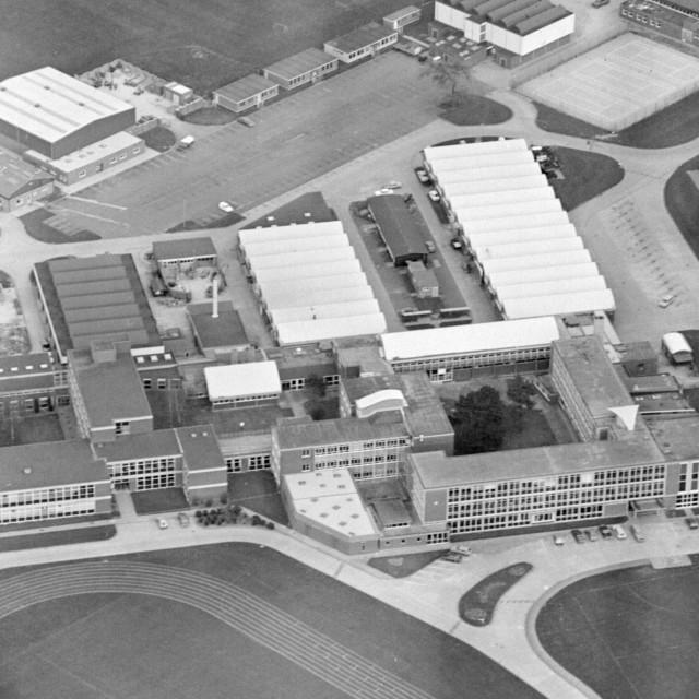 """Peterborough Technical College (1982)"" stock image"