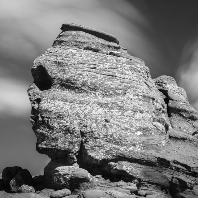 """The sphinx of Bucegi"" stock image"
