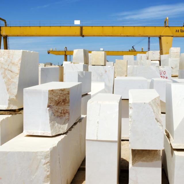 """Marble blocks 5"" stock image"