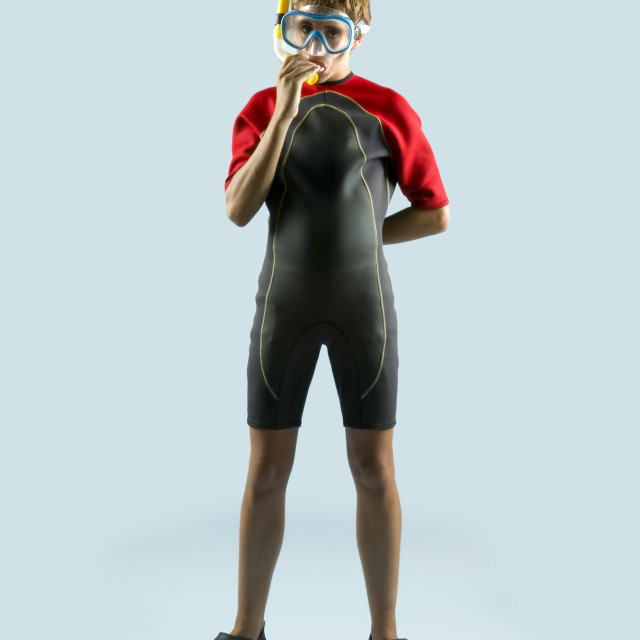"""""""Young diver"""" stock image"""