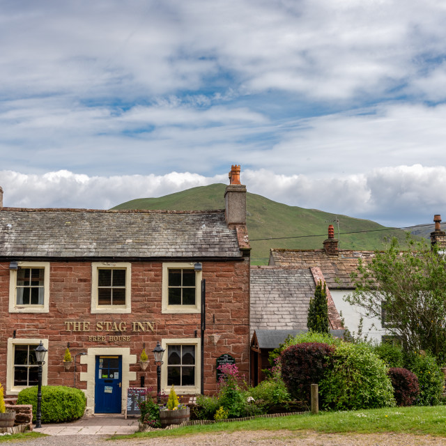 """""""The Stag Inn at Dufton"""" stock image"""