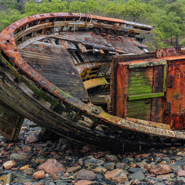 """""""Wreck of the Dayspring"""" stock image"""