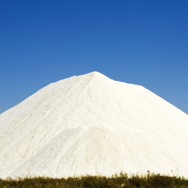"""""""Heap of sea salt in a marsh"""" stock image"""