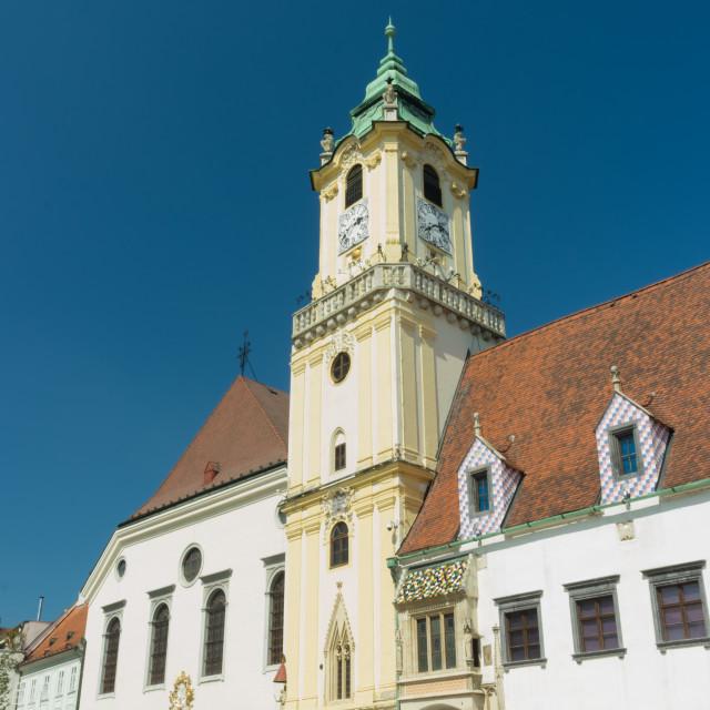 """Bratislava Main Square"" stock image"
