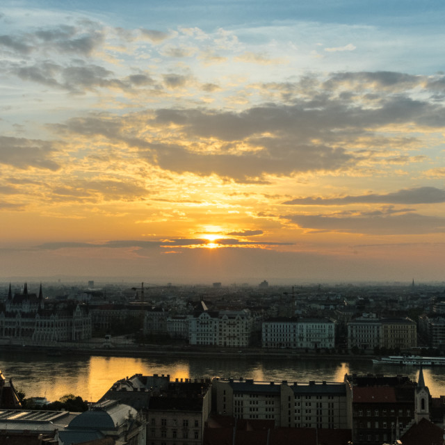 """Budapest Dawn"" stock image"